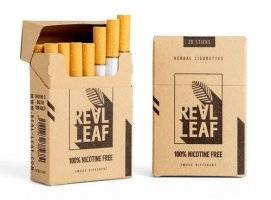 Real leaf Cigarette Without Tobacco and Nicotine
