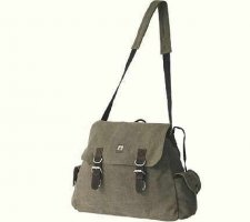 Shoulder Bag Pockets Hemp HF0032 Kaki
